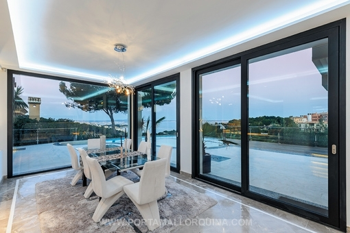 Dining area with fantastic views