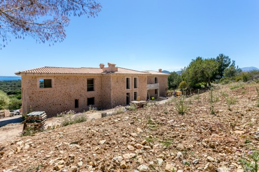 First class country house project to be finished with incredible views in Alcúdia