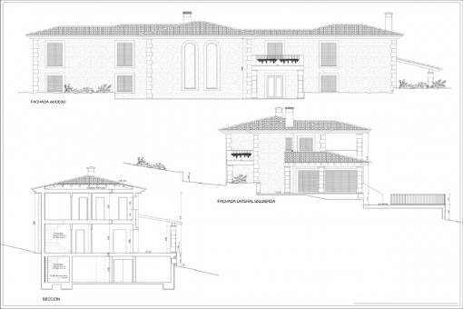 Plan: Front views