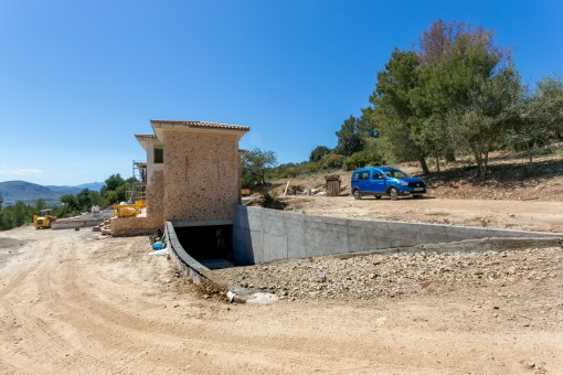 Finca in construction