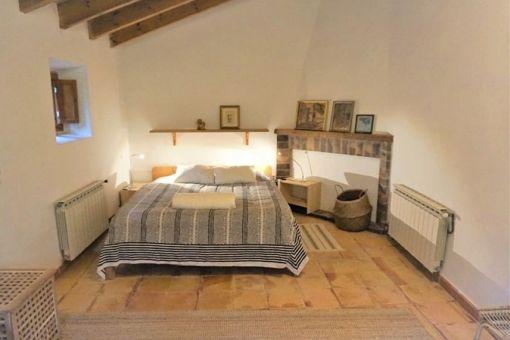 Lovely bedroom on the upper floor