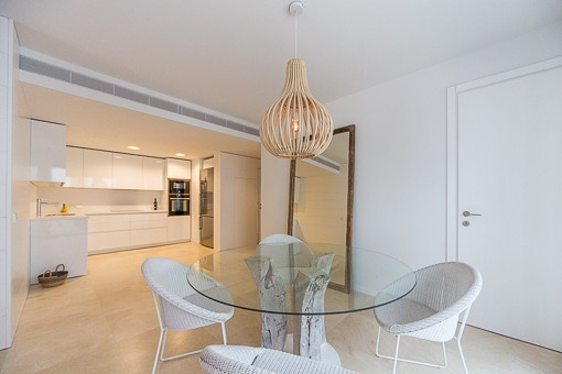 Stylish dining area beside the kitchen