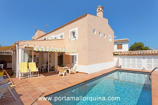 Comfortable semidetached house with private pool in Port Pollensa