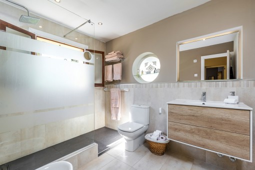 Lovely bathroom with large shower