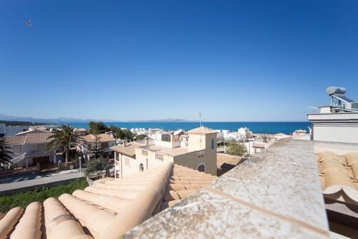 Spacious newly built villa with sea views, close to Son Serra de Marina beach.