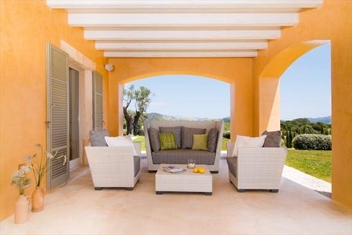 Cozy outdoor lounge area