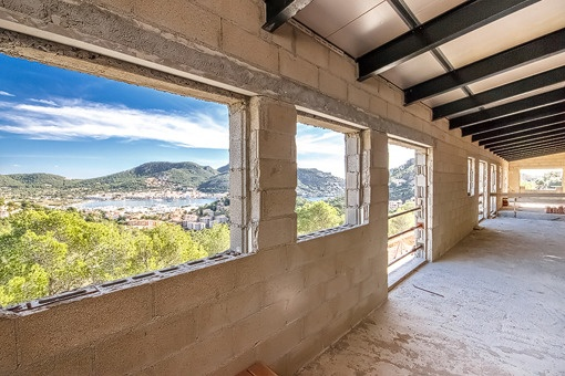 Fascinating sea views from the upper floor