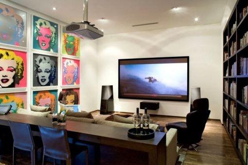 Home cinema with lounge area