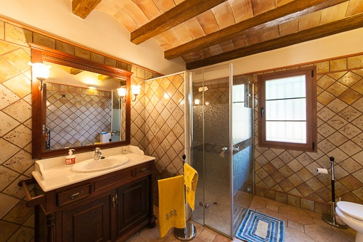Typical bathroom with shower