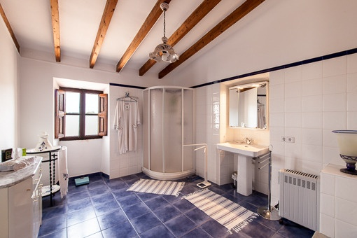Bright bathroom with daylight