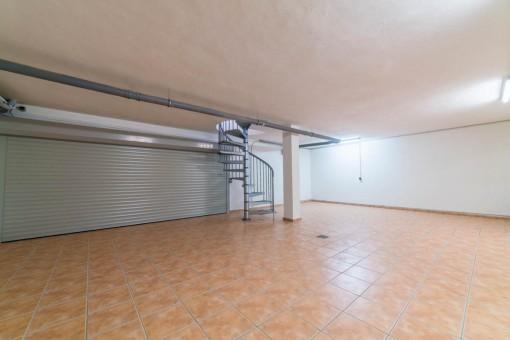 Garage from the villa