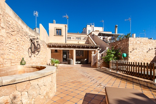 Typical mallorquin terrace with source