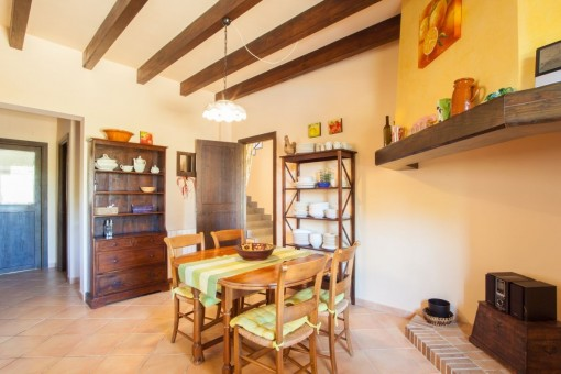 Dining area from the finca