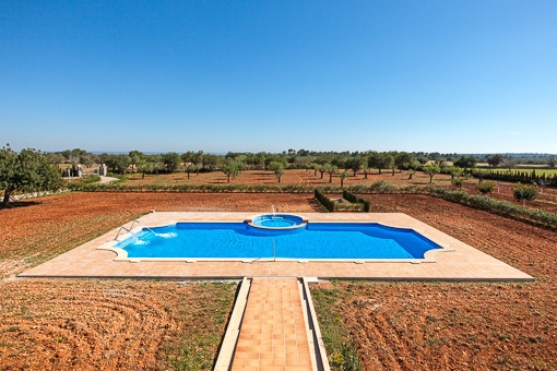Idyllic garden with pool