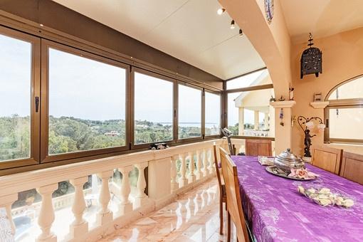 Dining area with nice sea views