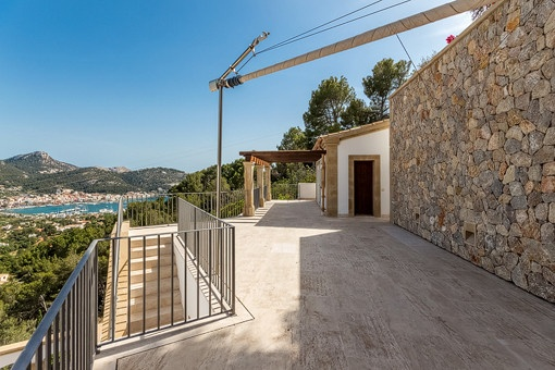Views to the guest house