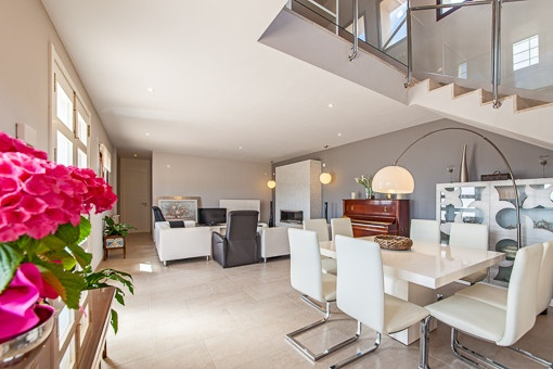 Elegant living and dining area