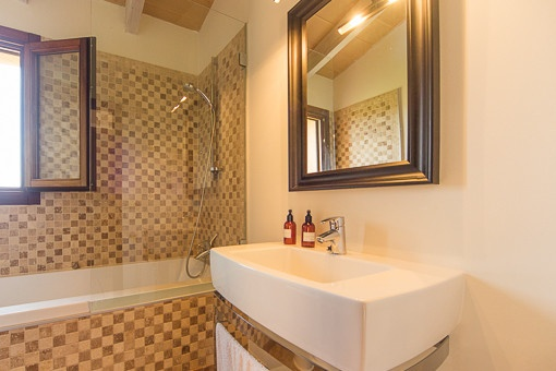 Bathroom with bathrub and daylight