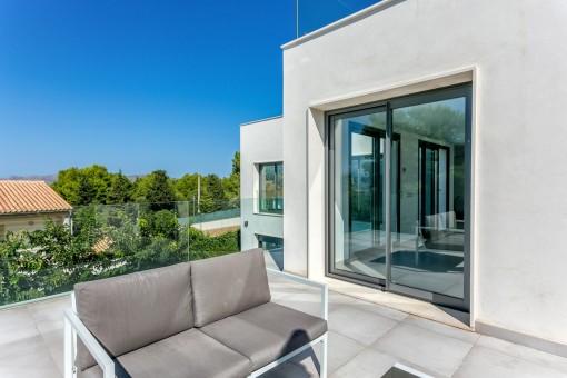 Sun terrace with lounge area