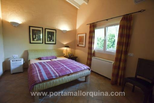 Master bedroom of the villa