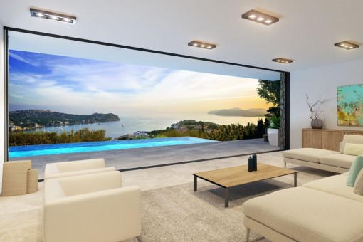 Unique sea views from the living area