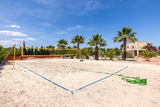 Private beach volleyball area