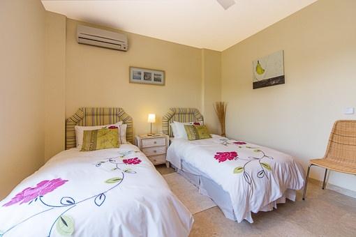 One of three double bedroom