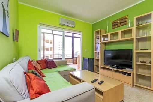 Bedroom used as TV room