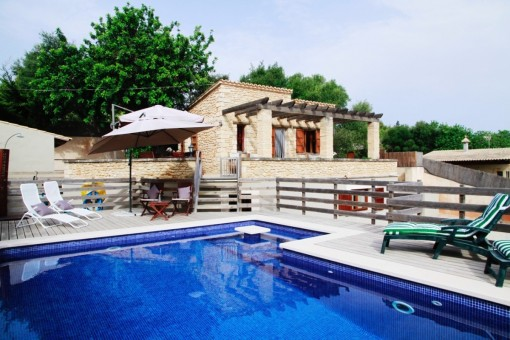 Charming natural stone Finca with sea views in Capdepera