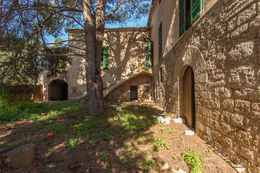 Finca with natural stone walls
