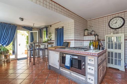 Generous kitchen on the upper floor