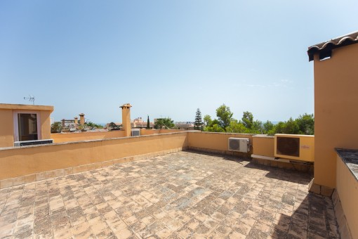 Sun terrace with unobstructed views