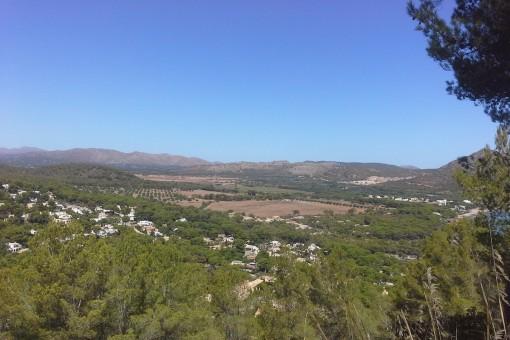 Beautiful views of the surrounding countryside