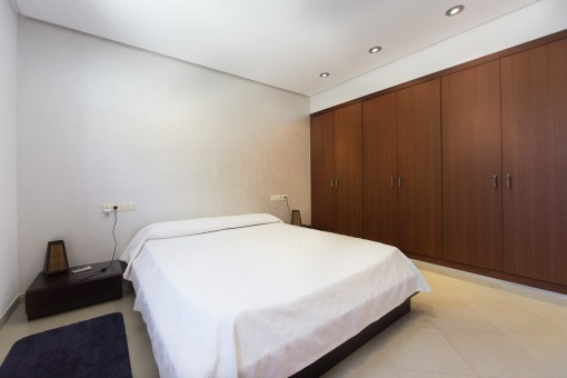 Bedroom with fitted wardrobe
