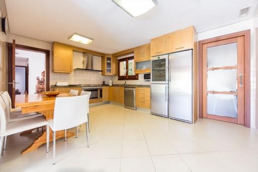 Very spacious kitchen