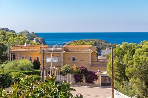 Impressive sea views from the villa