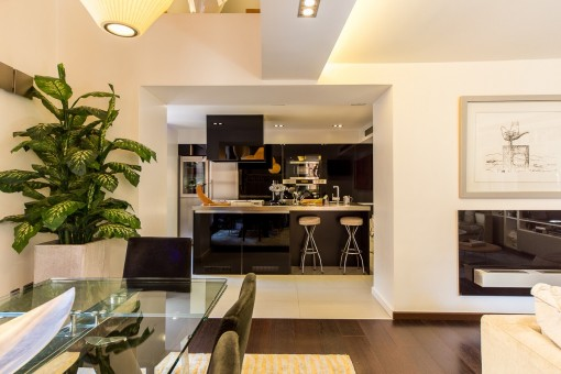 Open and modern kitchen