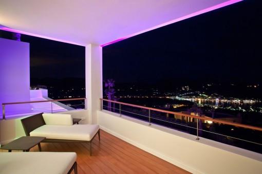 Spacious balcony with unique sea views