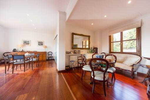 Elegant coffee room beside the living area