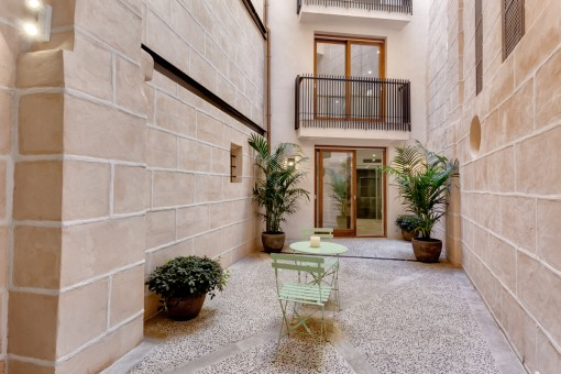 Mediterranean and echanting inner courtyard