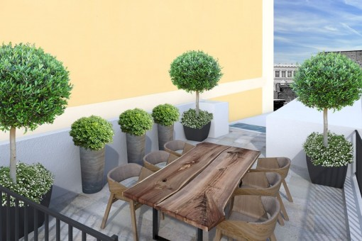 Beautiful roof terrace of approx. 55 sqm