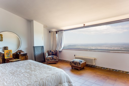 Spectacular views in the master bedroom