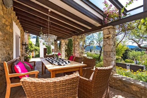 Gorgeous dining area on the terrace