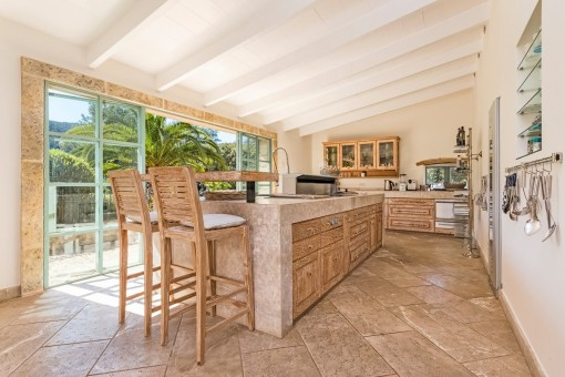 Modern kitchen with bar