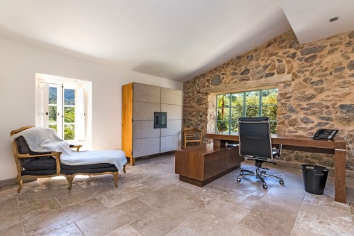 Office from the finca
