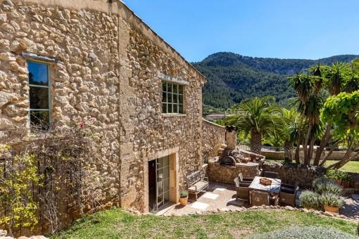 Finca built with natural stones