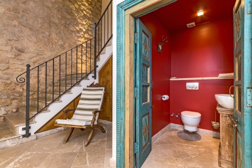 Guest toilet from the finca