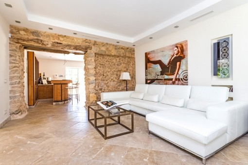 Lounge area from the finca