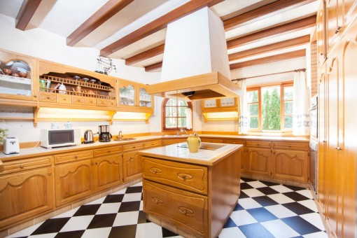 Majorcan kitchen with cooking island