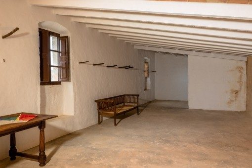 Living area from the finca